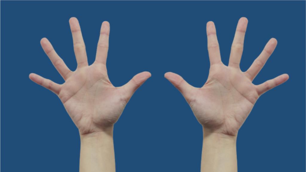2 hands in the sky